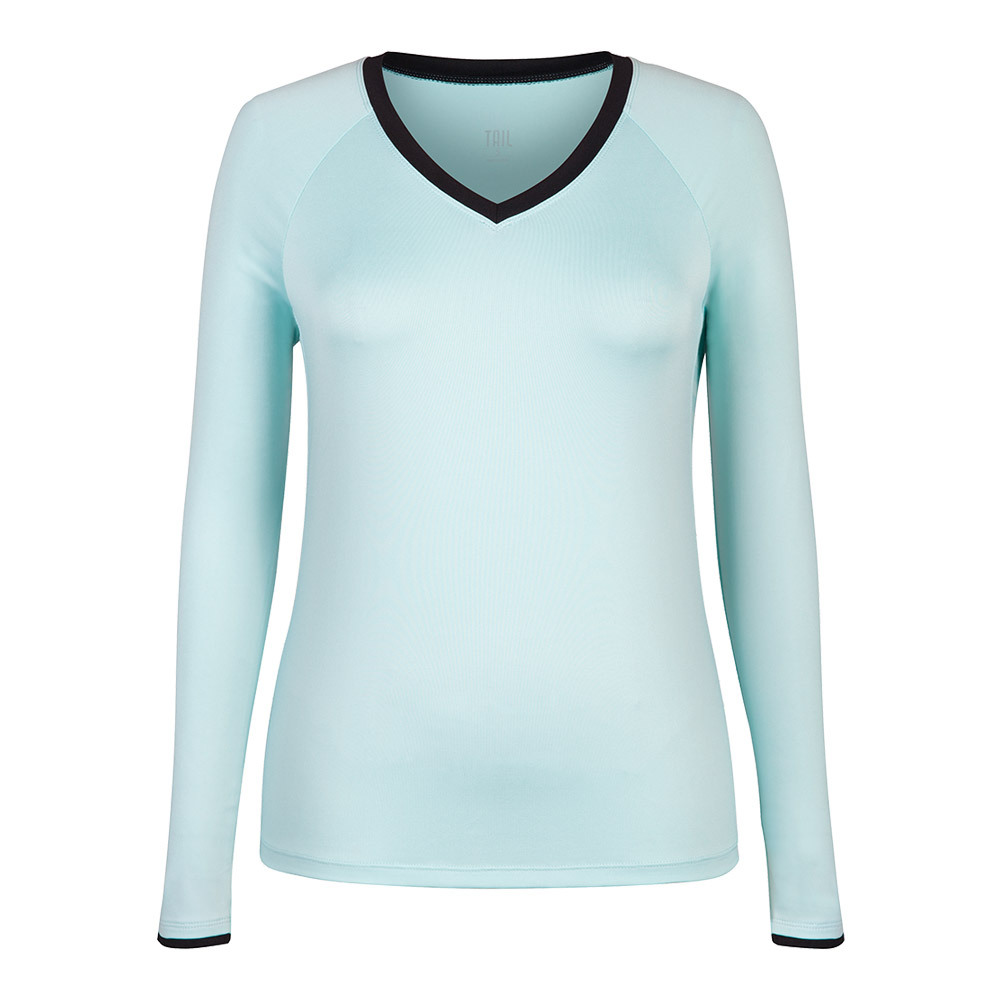 Women's Patrice Long Sleeve Tennis Top Sea Foam