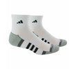 ADIDAS Men`s Climalite II Quarter Tennis Socks 2 Pack Black and Gray