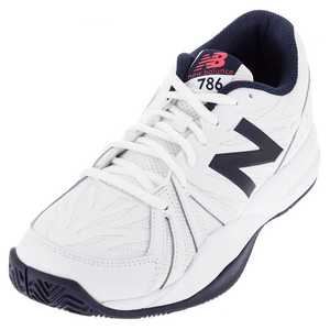 Men`s 786v2 D Width Tennis Shoes White and Pigment