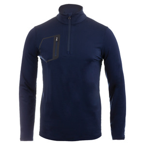 Men`s Brushed Back Tech Jersey 1/2 Zip Top French Navy