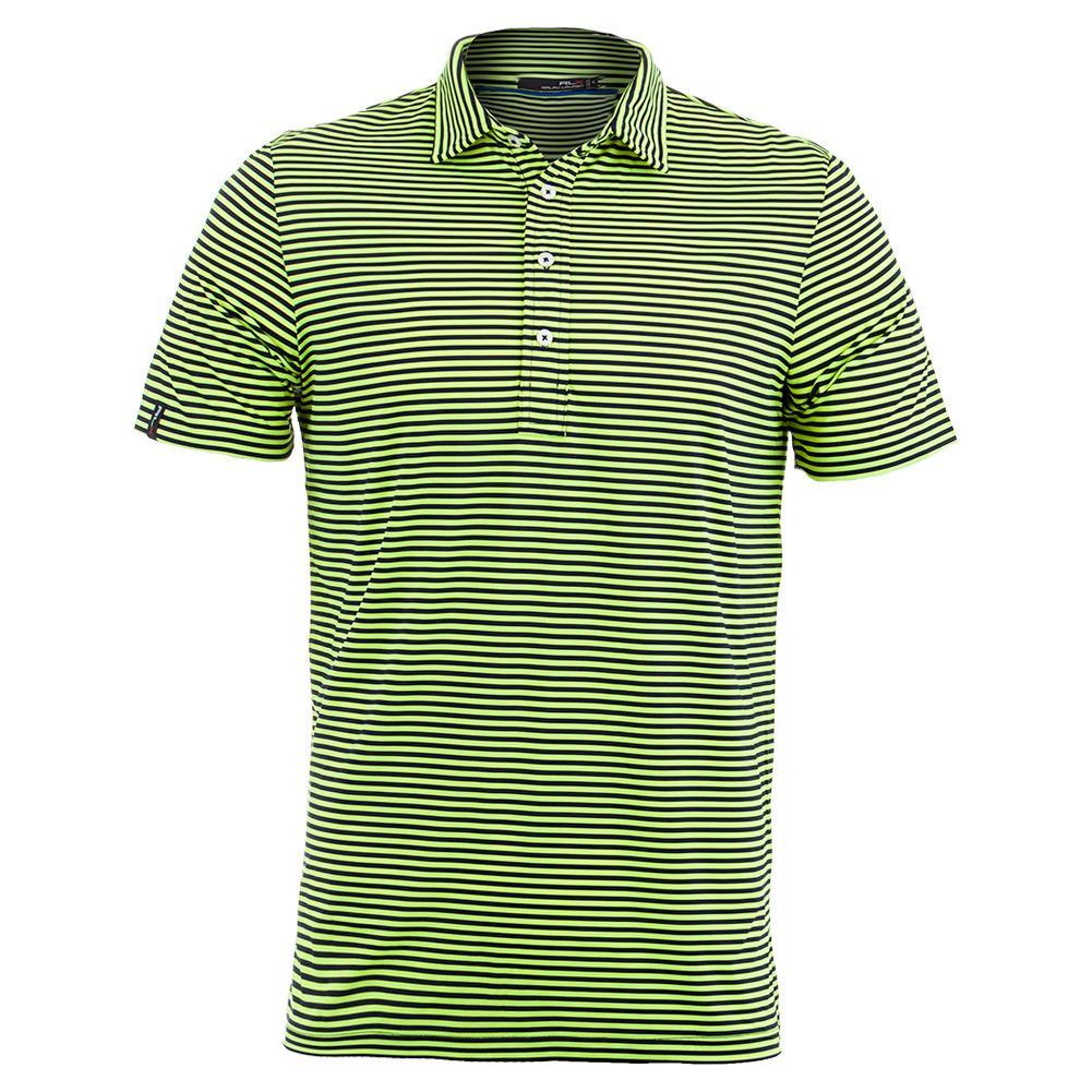 Men's Yarn Dye Stripe Airflow Polo