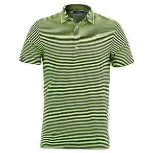 Men`s Yarn Dye Stripe Airflow Polo