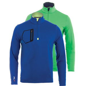 Men`s Brushed Back Tech Jersey 1/2 Zip Top