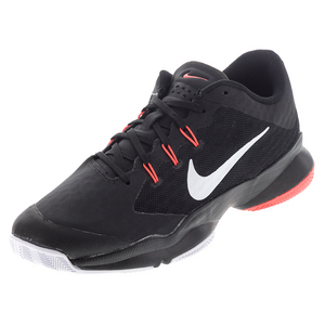 Men`s Air Zoom Ultra Tennis Shoes Black and Bright Crimson