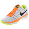 Men`s Air Vapor Advantage Tennis Shoes White and Volt by NIKE