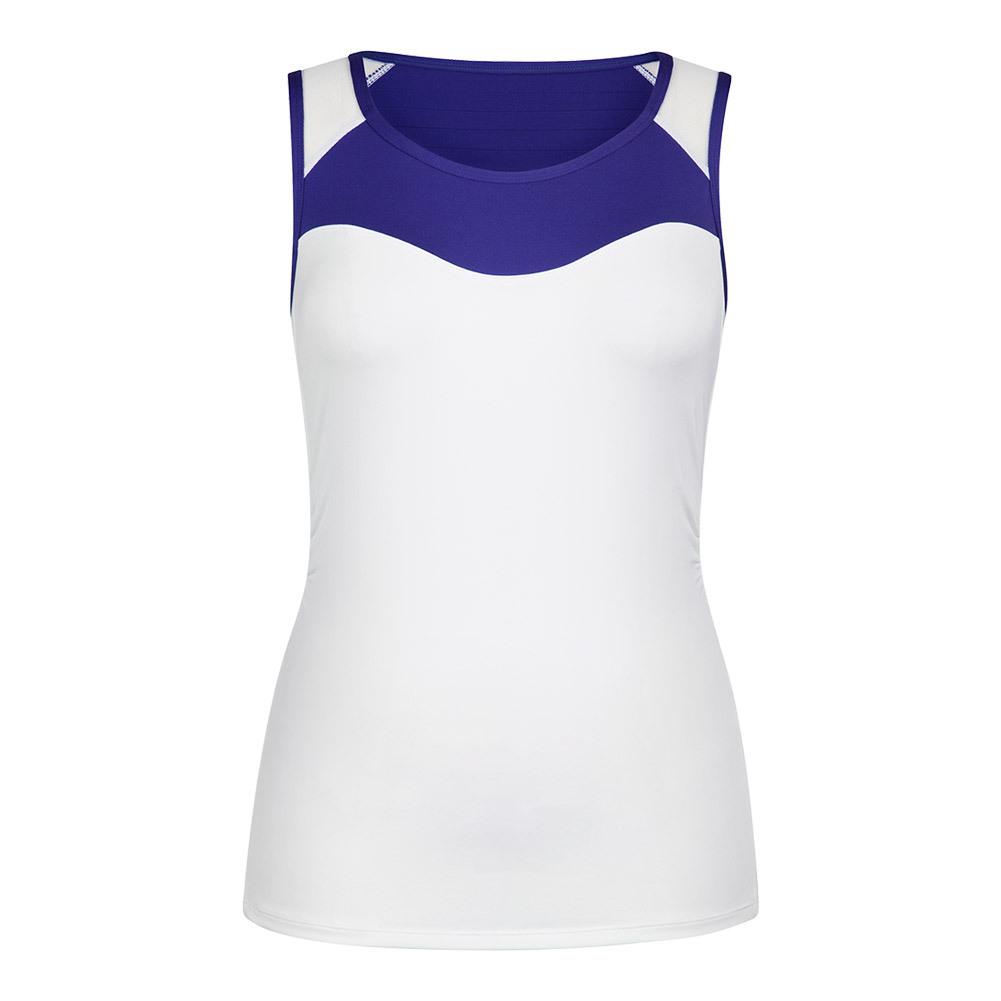 Women's Valen Scoop Neck Tennis Tank White