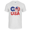 Go USA Unisex Tennis Tee White by NO SHOW