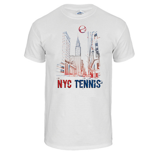 NYC Tennis Unisex Tee in White