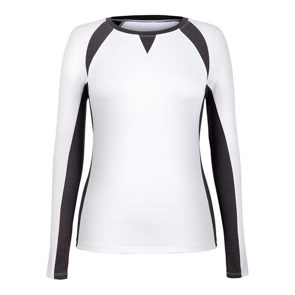 Women's Reba Long Sleeve Tennis Top White