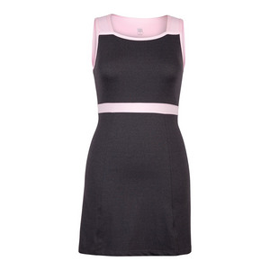 Women`s Delia Tennis Dress Black Heather and Parfait