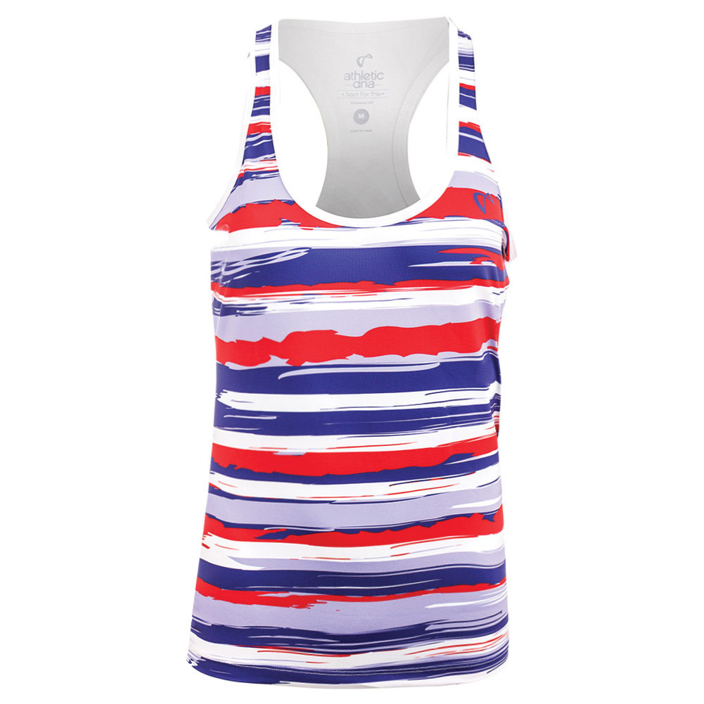 Girls ` Liberty Stripes Refresh Tennis Tank Red And White