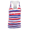 ATHLETIC DNA Girls` Liberty Stripes Refresh Tennis Tank Red and White