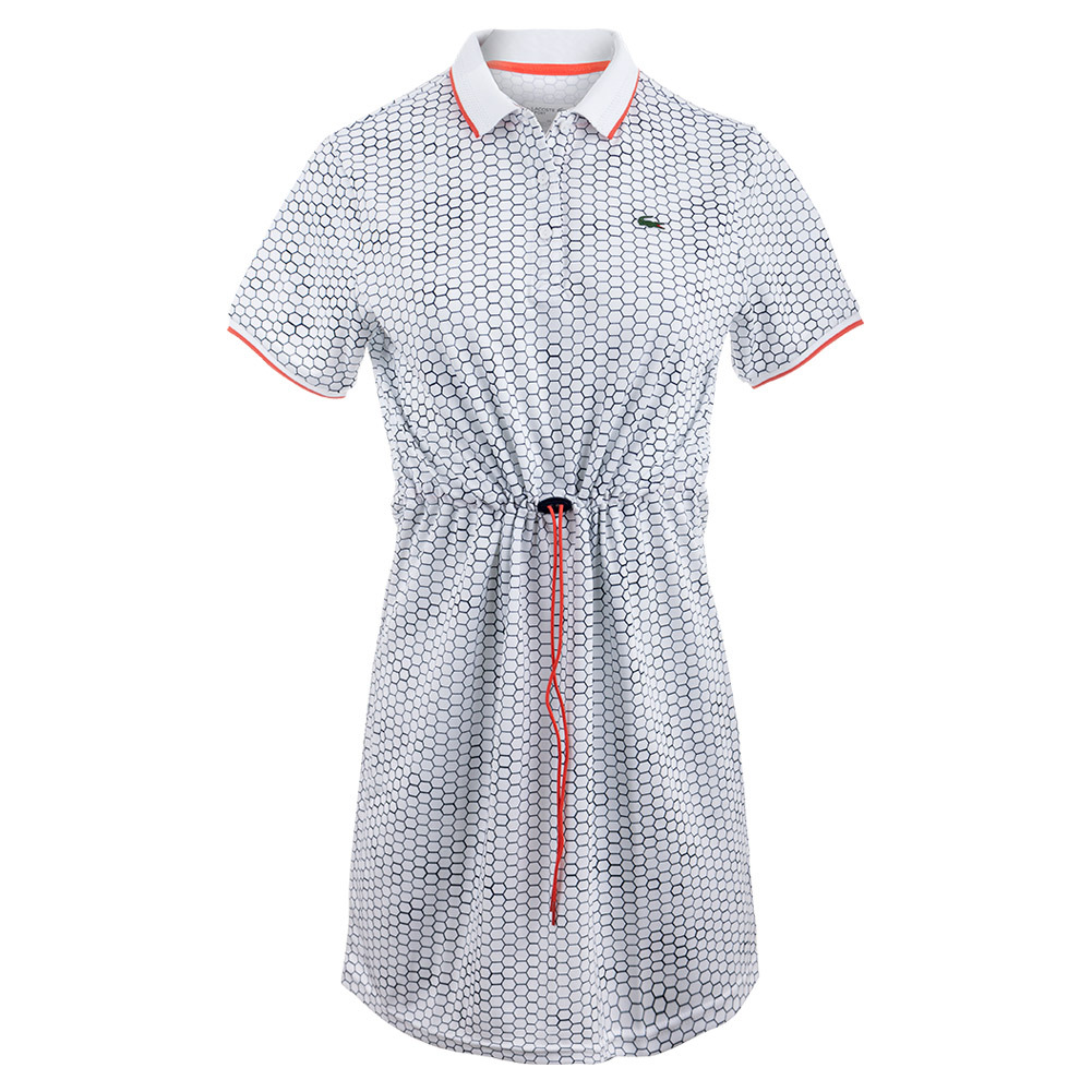 Women's Geo Printed Technical Tennis Polo Dress