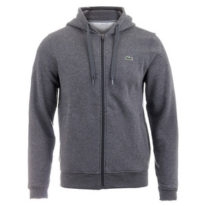 Men`s Sport Full Zip Tennis Hoodie Pitch Gray