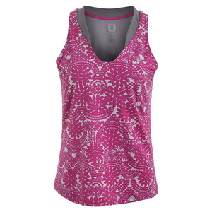 Women`s Love Tennis Tank Dahlia Print
