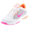 Women`s Air Zoom Ultra Tennis Shoes White and Metallic Silver by NIKE