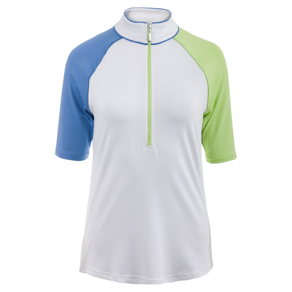 Women's Maraschino Mock Tennis Top French Blue