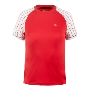 Boys` Heritage Pin Striped Tennis Crew