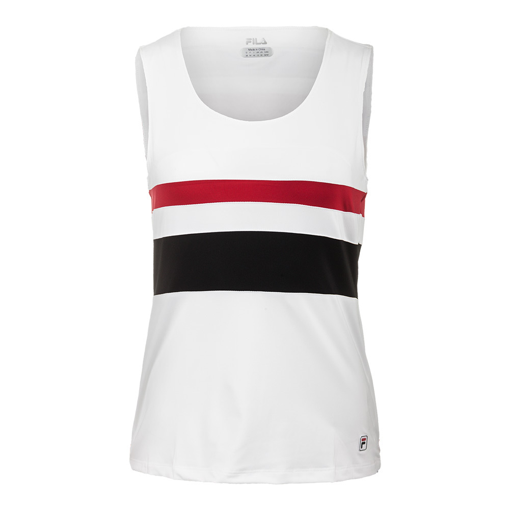Women's Heritage Full Coverage Tennis Tank White And Crimson