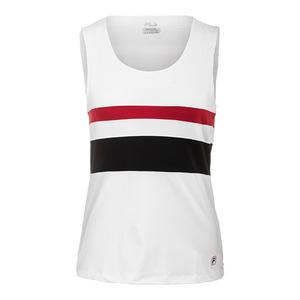 Women`s Heritage Full Coverage Tennis Tank White and Crimson