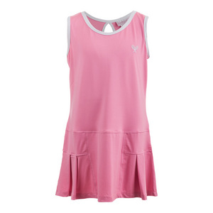 LITTLE MISS TENNIS GIRLS TENNIS DRESS PINK W/WHITE TRIM