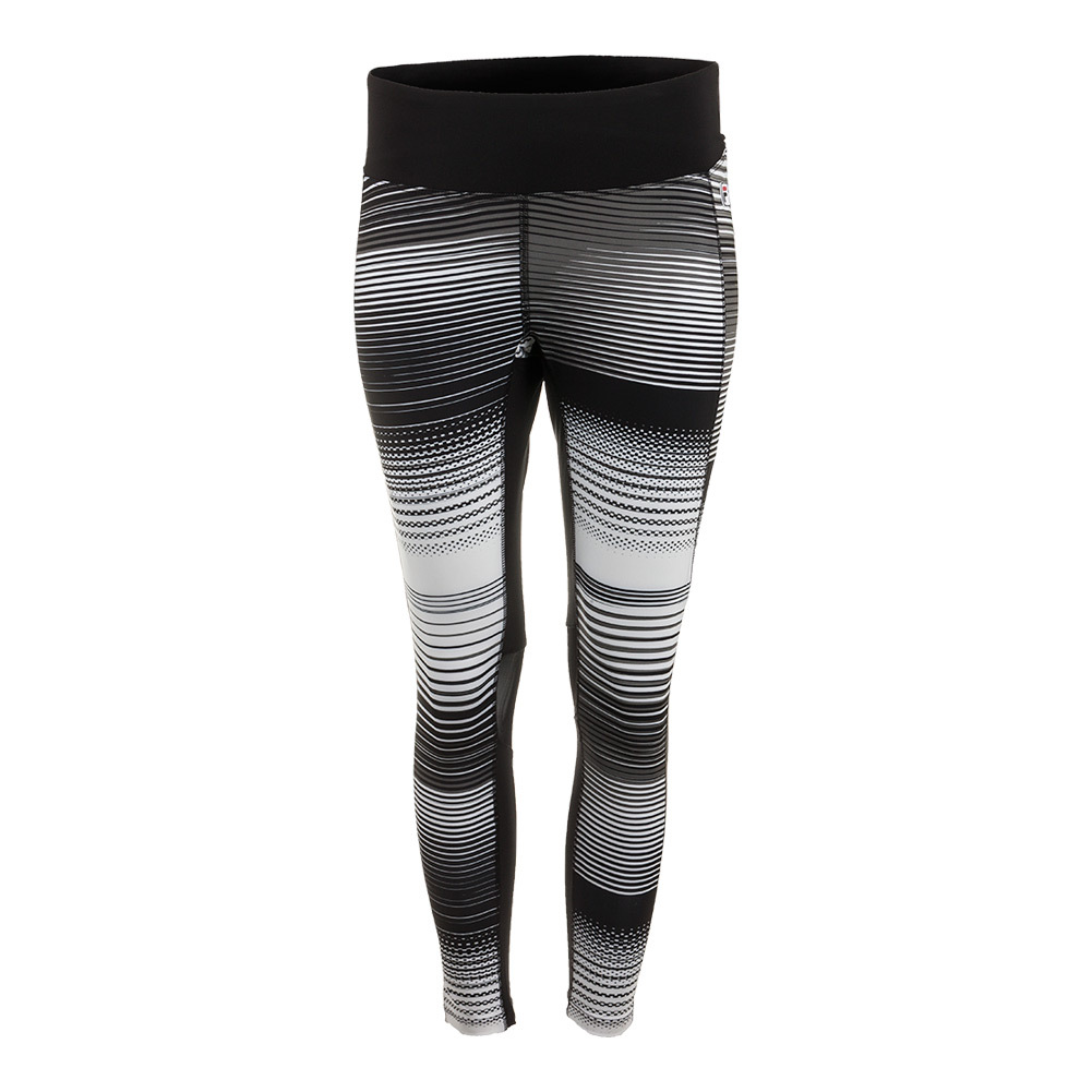 Women's Heritage 3/4 Tennis Tight Black And White Stripe