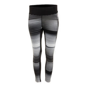 Women`s Heritage 3/4 Tennis Tight Black and White Stripe