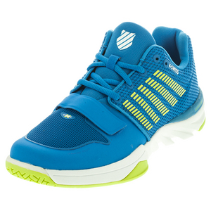 Men`s X Court Tennis Shoes Brilliant Blue and Optic Yellow