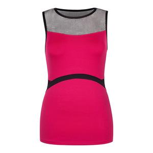 Women`s Avis Boat Neck Tennis Tank Garnet Red