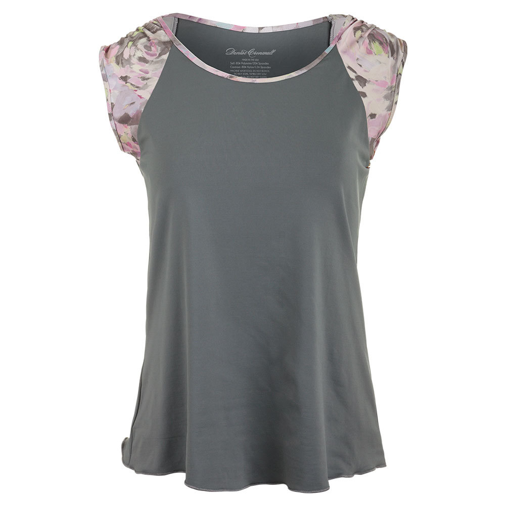 Women's Short Sleeve Tennis Top Gray