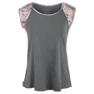 Women`s Short Sleeve Tennis Top Gray
