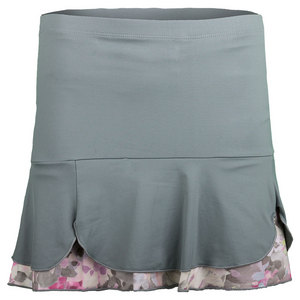 DENISE CRONWALL WOMENS LUNA TENNIS SKORT GRAY