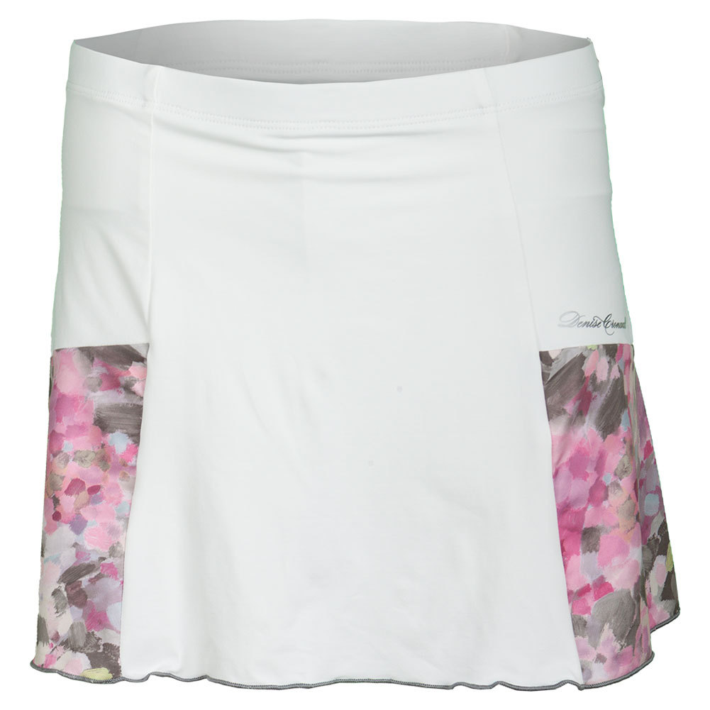 Women's Pocket Tennis Skort White And Wyn Print