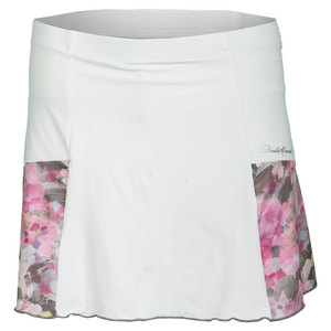 Women`s Pocket Tennis Skort White and Wyn Print