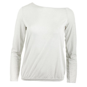 DENISE CRONWALL WOMENS LONG SLEEVE TENNIS PULLOVER WHT