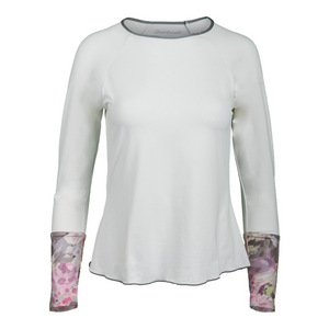 Women`s Long Sleeve Tennis Top White