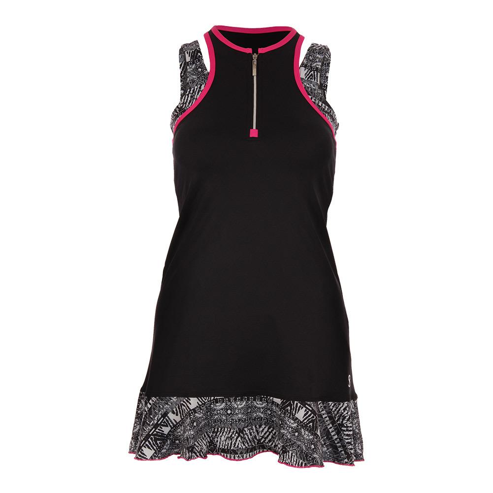 Women's Tennis Tank Dress Black