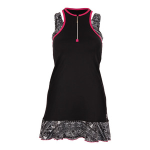 SOFIBELLA WOMENS TENNIS TANK DRESS BLACK