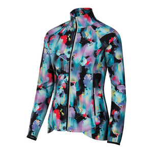 Women`s Packable Jacket Inkblot Floral