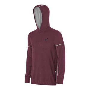 Men`s Lightweight Fleece Hoody Rioja Red Heather