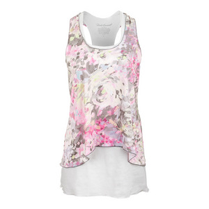 DENISE CRONWALL WOMENS TENNIS DRESS WYN PRINT AND WHITE