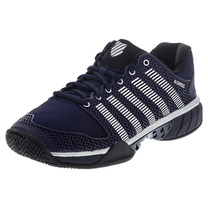 Men`s Hypercourt Express Tennis Shoes Navy and Silver