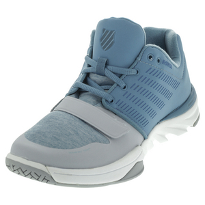 Men`s X Court Athleisure Tennis Shoes Blue Haven and Gray Dawn