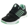 Women`s X Court Tennis Shoes Black and Cabbage by K-SWISS