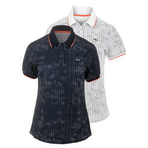 Women`s Geometric Printed Technical Tennis Polo