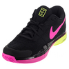 NIKE Men`s Zoom Vapor 9.5 Tour Flyknit Tennis Shoes Black and Pink Blast