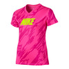 NIKE Girls` Legend V-Neck Overdrive Tee