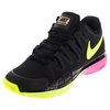 Men`s Zoom Vapor 9.5 Tour Tennis Shoes Black and Pink Blast by NIKE