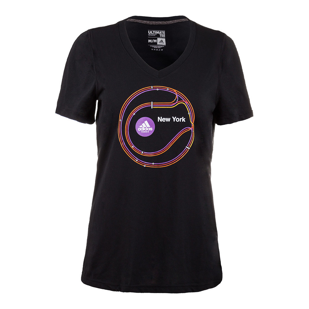 Women's New York Graphic Tennis Tee Black