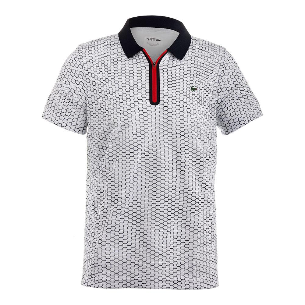 Men's T1 Printed Ultradry With Zipper Placket Tennis Polo